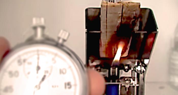 Проверка состояния огнезащитной обработки